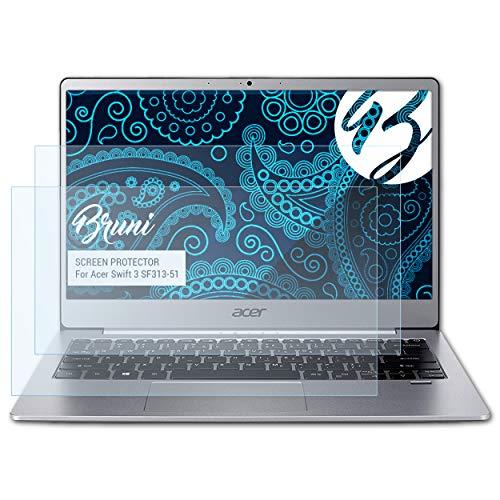Bruni Schutzfolie kompatibel mit Acer Swift 3 SF313-51 Folie, glasklare Bildschirmschutzfolie (2X)