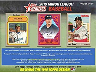 2019 Topps Heritage Minor League Baseball Hobby Box (18 Packs/8 Cards: 4 Hits)
