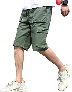 MissX ハーフパンツ メンズ 5分丈 ショートパンツ ファッション 短パン カジュアル 夏 無地 ゆったり 通気性 大きいサイズ