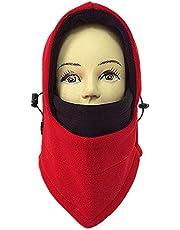 AsentechUK® Doble Capas Grueso Resistente al Viento Cap cálido Wargame Invierno al Aire Libre Ciclismo máscara Gorro Romano Forro Polar pasamontañas