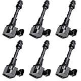 ECCPP Ignition Coils Pack of 6 Compatible with Nissa-n Series/Infiniti I35/ Infiniti QX4/Suzuki Equator 2002-2012 Replacement for UF349 C1406 for Travel Transportation and Repair
