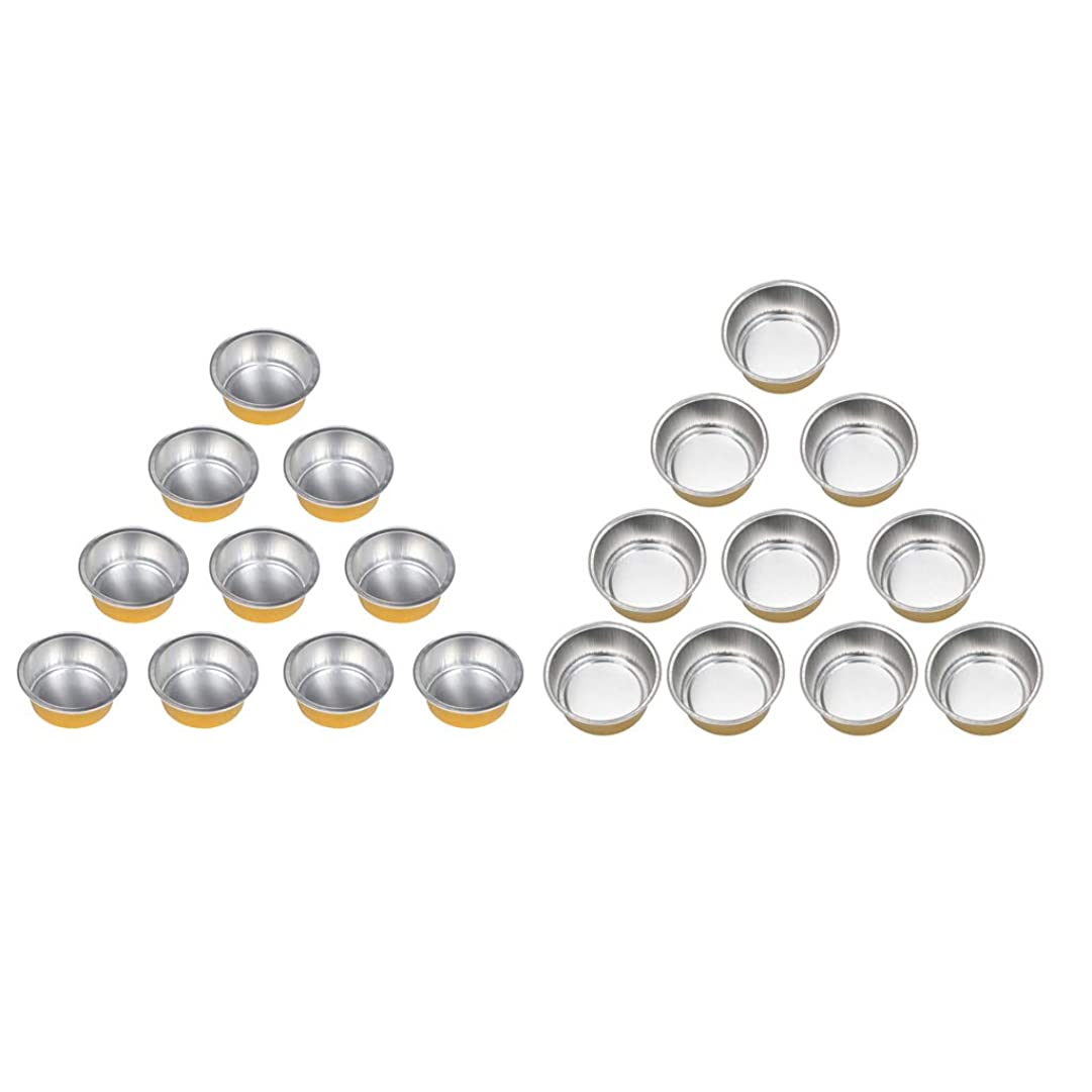 後悔スケルトン欠席chiwanji ワックスヒーターマシンのための20個のホットアルミ箔ワックス溶融マグカップボウルポット錫