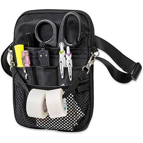 WANGXN Riñonera para veterinario, con múltiples compartimentos, con cinturón ajustable, bolsillo organizador para enfermería, accesorios de enfermería