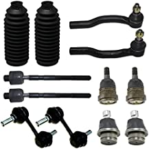 Detroit Axle - New Complete 12pc Front Suspension Kit Nissan Titan- 10-Year Warranty- All (4) Front Upper & Lower Ball Joints, All (4) Inner & Outer Tie Rods, 2 Front Sway Bar Links, 2 Tie Rod Boots