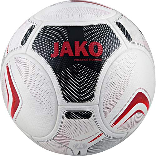 JAKO Unisex– Erwachsene Prestige Trainingsball, weiß/schwarz/rot, 5