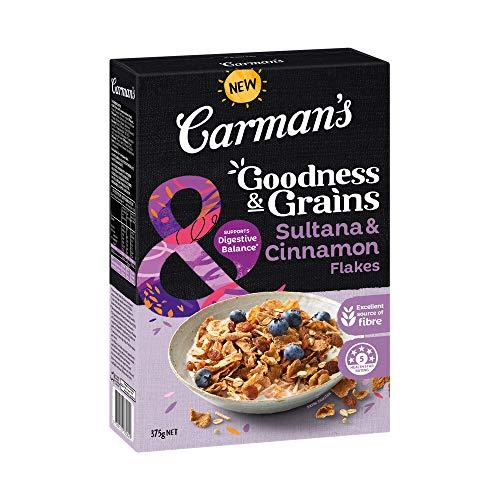 Carman's Goodness & Grains Sultana and Cinnamon Flakes, 375 g
