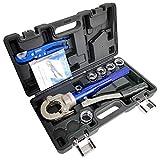Pinza crimpatrice idraulica in alluminio con TH16, 20, 25, 26,32 mm, per tubi compositi, tubo PEX, tubo in plastica in alluminio