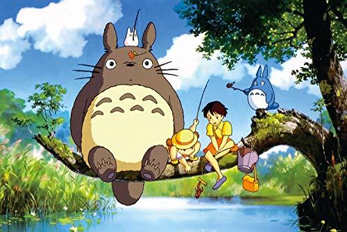 Puzzleteile Adult Wooden Large Block Kinder Toy Girl Sehr schwierige Cartoon-Totoro Angeln Holzstücke, um Big Picture 1000 Tabletten rahmenlos zu senden