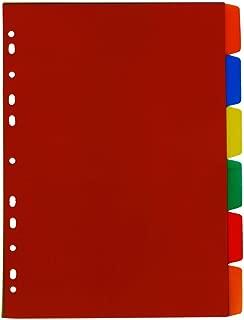 Divisória para fichário 22x29cm colorida 6 projeções ref. 754 - ACP