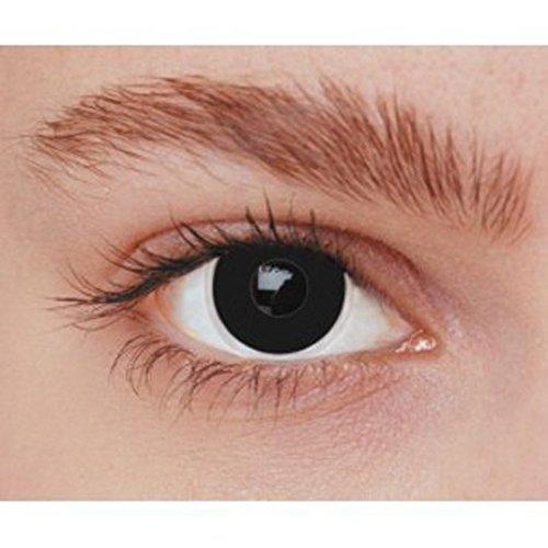 Lentilles de contact fantaisie iris noir uni sous environnement stérile sans correction