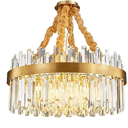 SVHK Sala de Estar Chandelier Moderna Creatividad Colgante luz Acero Inoxidable Cristal luz de Techo iluminación Interior 39'para Cocina casa de Campo Sala de Estar Comedor 52-luz
