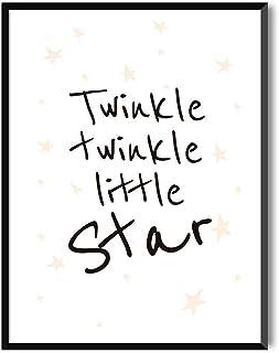 MILUKA Láminas Infantiles para enmarcar colección Mensajes Infantiles | Twinkle | Tamaño 20x30cm, 30x40cm, 50x70cm (20 x 30 cm con Marco Negro)