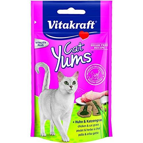 Vitakraft Cat YUMS au Poulet et Herbes à Chat 40g (Lot de 3)