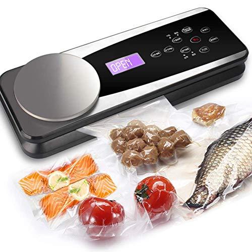 ZGYQGOO Mini Food Vacuum Sealer Professionelle Vakuumiermaschine mit elektronischer Waage Gewerbliche Nass- und Trockenautomatik für kleine Haushalte