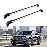 MotorFansClub Roof Rack Cross Bars Fit for Compatible with BMW X5 G05 2019 2020 2021 Crossbars Baggage Cargo Luggage Aluminum (2 PCS)