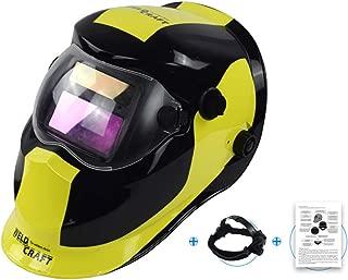 Máscara de Soldadura de atenuación automática Solar, Casco de Soldadura Ajustable, Rango de Pantalla Ancha LCD DIN9-13