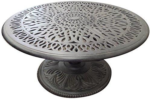 K&B PATIO LD777PE-36 Elizabeth Pedestal Round Coffee Table, 36', Antique Bronze