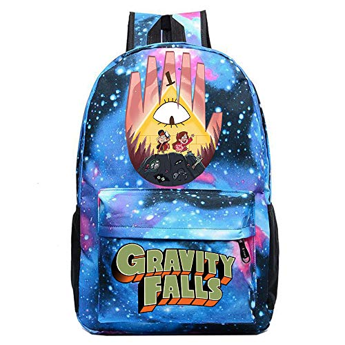 Gravity Falls Freizeitrucksack High School Tide Brand Backpack koreanische Version des einfachen College Bag Bag Backpack Unisex (Color : Light Blue01, Size : 30 X 13 X 43cm)