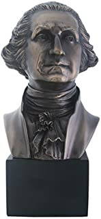 Summit President George Washington Bust Statue Sculpture, Bronze Finish