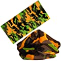 Cool Seamless Style Camoufalge Bandanna Headwear Scarf Wrap Camo Neck Gaiters. Perfect for Running & Hiking, Biking & Riding, Skiing & Snowboarding, Hunting, Working Out & Yoga for Women and Men.
