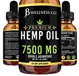 Hemp Oil 7500mg - Natural and Safe Hemp Oil - Pain & Stress Relief - Powerful for Ingestible & Topical Use - Non-GMO - Plant Based - Sugar-Free - Peppermint - 1 oz