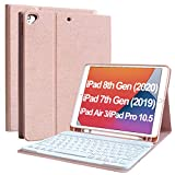 "New iPad 8th/7th Generation Case Keyboard 10.2"" 2020, Keyboard Case for iPad Air"