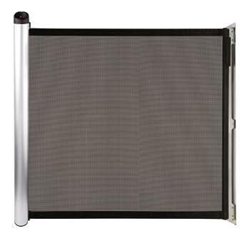 Lascal KiddyGuard Accent, Barrière de sécurité enfants élégante, Barrière de porte en toile avec boîtier en aluminium, Barrière extensible jusqu'à 100 cm, noire