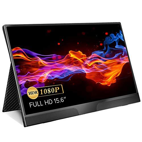 モバイルモニター EVICIV 15.6インチ 超薄型 モバイルディスプレイ IPSパネル/USB Type-C/ミニHD/保護ケース付 EVC-1502