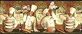 French Chefs Wallpaper Border KB206643b