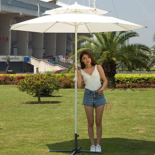 HXFAFA Paraguas de 2,1 Metros Sombrillas Terraza Desmontable Ángulo Regulable, Cubierta de Paraguas Gratis, para Exteriores Terraza Piscina y Playa