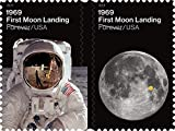 1969: First Moon Landing US Forever Postage Stamps Released 2019 Commemorating 50th Anniversary of Apollo 11 Moon Landing by Neil Armstrong and Buzz Aldrin (Sheet of 24)