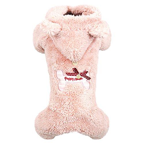 Puppy Angel Bbobbo Ensemble Motif Petit Os pour Chien Femelle Rose Taille M/L