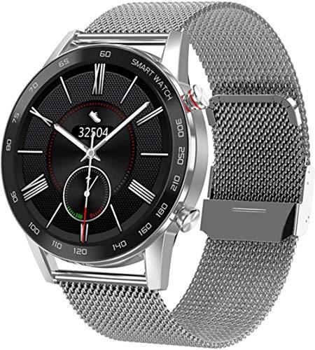 Reloj inteligente de alta definición para hombre, IP68, monitoreo de la salud del ritmo cardíaco, modo deportivo 1.3 Inc reloj deportivo con llamada Bluetooth (color: B)-A