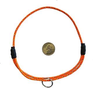 "National Leash Mountain Rope Dog ID Collar- California Orange- Medium (14'-20"") Ultra Lite"