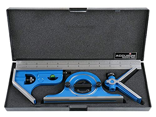 Accusize Industrial Tools 12'' 4 Combination Square Ruler...
