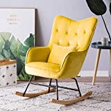 LJQLXJ divano Single Sofa Reclining Chair Rocking Chair Carefree Chair Living Room Balcony Leisure Chair Napping Chair,Same as picture3