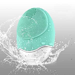 DryMartine Limpiador Facial y Masajeador,Silicona Orgánica Recargable Waterproof Masaje Facial, Anti-Aging Limpiador de Piel y Deep Exfoliator