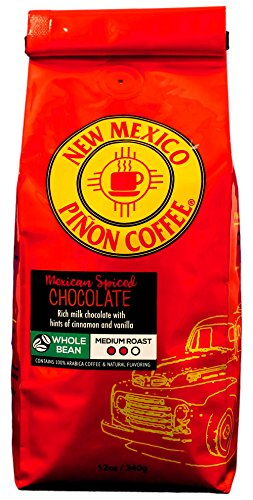 New Mexico Piñon Coffee Naturally Flavored Coffee (Mexican Spiced Chocolate Whole Bean, 12 ounce)