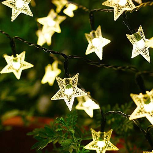 Solare Starfish luci della stringa, 12m solare dei 100 LED luci di Natale impermeabile stellata della luce leggiadramente for / professionali da esterni Decor Ambiance giardino sul retro di nozze for