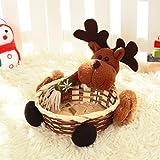 Materiale: bambù. Colore: multicolore. Dimensioni: 15 x 15 cm. Ottimo regalo di Natale per bambini. Può essere utilizzato per caramelle, biscotti, e qualsiasi altro piccolo regalo. Grazioso per le decorazioni natalizie e per le decorazioni delle fest...