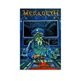 ZHIYONG Abstract Graffiti Poster Megadeth Rust in Peace Canvas Art Poster and Wall Art Picture Print Modern Family Bedroom Decor Posters 12x18inch(30x45cm)