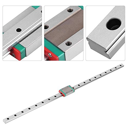 Mini Linearschienenführung, Linearführungsschiene 250/300/400/500/550mm Linearführung mit Lager für DIY 3D-Drucker und CNC-Maschine(500mm)