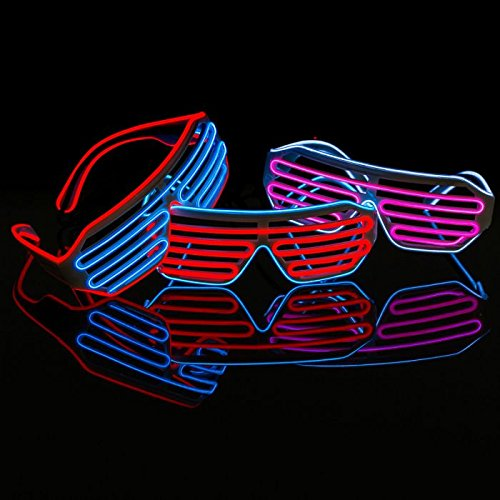 Pink & Blue Neon LED Light Up Glasses | Illuminated Apparel | Glow Party | Festival | Rave