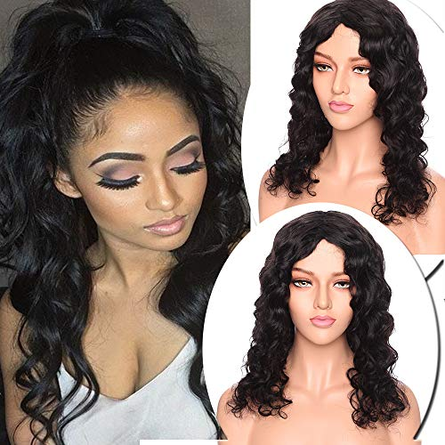 Perruque Femme Naturelle Brésilienne Bob Courte sans Lace Frontal Curly Frisee Afro Vrai Cheveux Humain san Colle Frange -100% Human Hair 6\