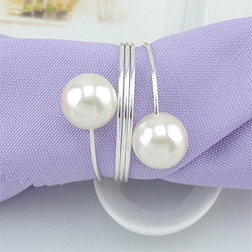 E-Randi napkin-ring with pearls for events, marriages, wedding planners, home, hotels