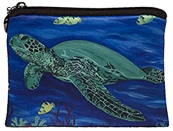 Salvador Kitti Change Purse Vegan Coin Purse - Animals - from My Original Paintings - Support Wildlife Conservation Read How  Animals   Sea Turtle - Wisdom
