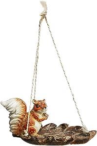 XCHENY Estatua de animal simulada, Estatua de ardilla, Escultura de resina al aire libre, Adornos artesanales, Jardín Villa Terraza Patio Decoración de césped Paisaje, Alimentación de aves y colocació