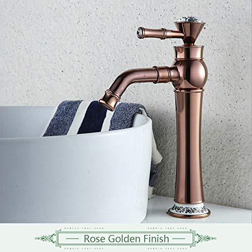 Modestil Badematte Nobility Gold Deck montiert 360 Schwenkauslauf Kristall Wasserhahn Griffe Golden Color Mixer Wasserhahn Wasserhahn Roségold
