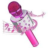 Micrófono Inalámbrico Bluetooth,Micrófono Karaoke Bluetooth,Portátil Inalámbrica Micrófono y...