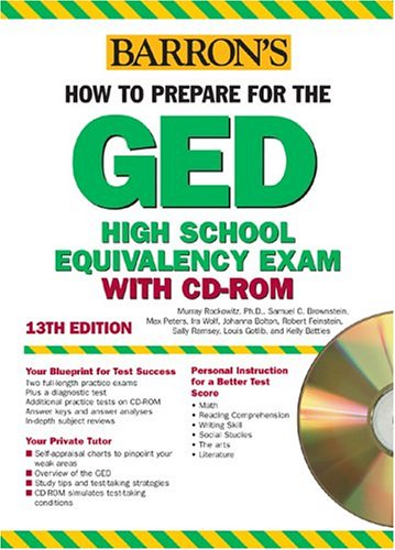 How To Prepare For The Ged With Cd Rom Barrons Ged W Cd